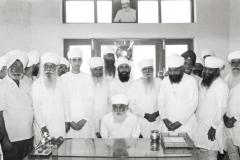 Satguru Jagjit Singh Ji at the academy office in 1987