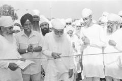 Sri Satguru Ji inaugurating the new building on 9 Oct 1995